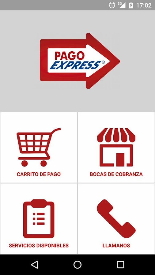 PagoExpress: captura de pantalla