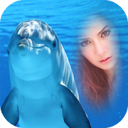 dolphin fish photo frame costume montage editor