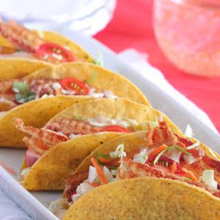 Creamy BLT Ranch Tacos.