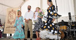 Paola Laynez, Ramón Fernández-Pacheco, Carmen María Pérez Moreno y Mar Segura en la entrega de la insignia.