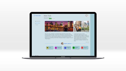 Eksempel på TripDoodler UX &UI Design