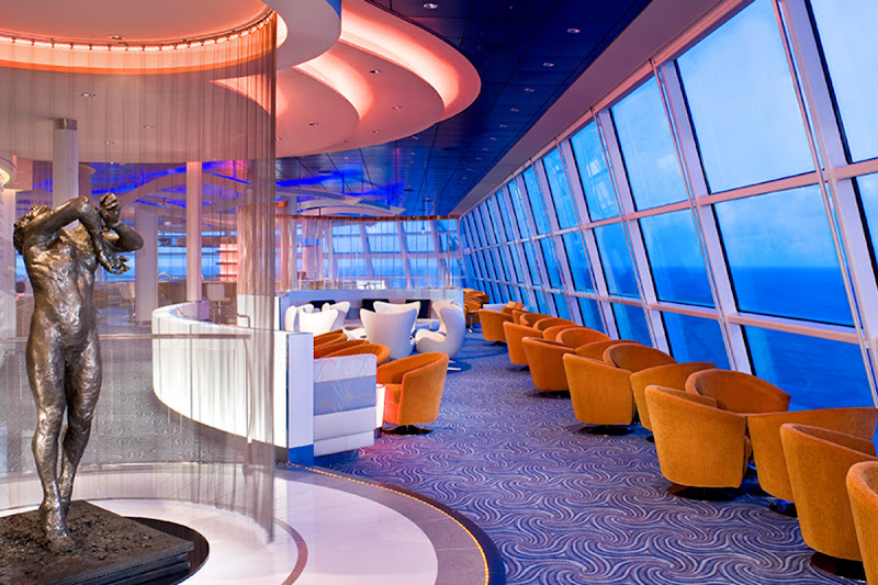 Head to the Sky Lounge on your Celebrity cruise for sweeping panoramic views.