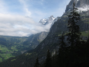 Photo: Looking back, fine views of the Wetterhorn (12,132 ft.) ...