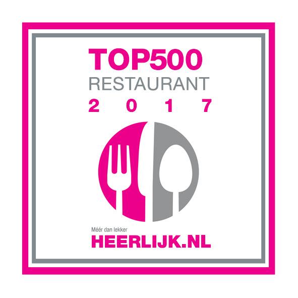 TOP500 Restaurant 2017 volgens Heerlijk.nl