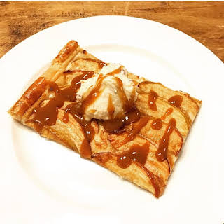 Salted Caramel Apple Tart with Peanut Butter Whipped Cream.