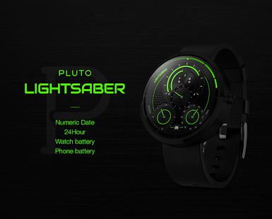 Lightsaber watchface by Pluto- screenshot thumbnail