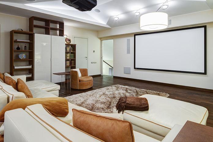 flex room media room