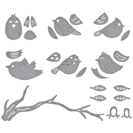 Spellbinders Dies By Vicky Papaioannou - Sweet Birds On A Branch
