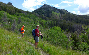 Photo: Approaching Windy Mountain - The beautiful 9-mile loop trail is maintained by the Charlie Russell Back Country Horsemen of Great Falls.