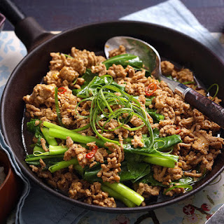 Sichuan-Style Ground Pork and Gai Lan