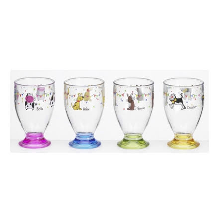 Glas Charlie & Friends, 4-pack