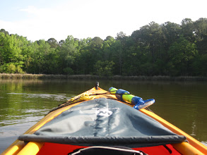 Photo: View of Wateree from the front of my tandem kayak