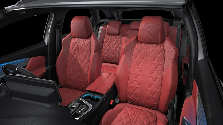 Seats are optionally available in red nappa leather in the flagship GT model. Picture: SUPPLIED