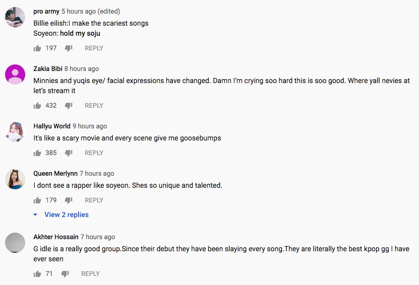 gidle comments