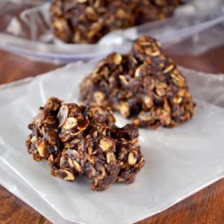 Dark Chocolate Sea Salt No Bake Cookies.
