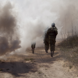 soldiers ran through thick smoke by Yeshaya Dinerstein - People Professional People ( shooting, american, danger, troops, view, commando, sniper, action, military, active, tactical, water, adventure, army, person, background, israeli, silhouette, force, rifle, assault, gun, woman, warrior, tourism, combat, training, infantry, summer, uniform, weapon, security, world, attack, man, park, fight, ammunition, nature, war, people, lifestyle, outdoor, battle, special, marines, soldier, battlefield, israel, armed )