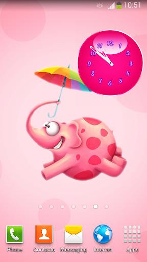 粉紅色 時鐘 小工具