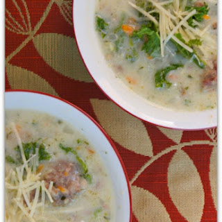 Slow Cooker Parmesan, Sausage and Kale Soup
