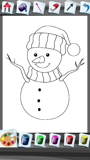 Download Snowman Coloring Book Android Apps APK
