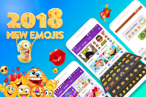 Smiley Emoji Keyboard 2018 - Cute Emoticon app (apk) free download for Android/PC/Windows screenshot