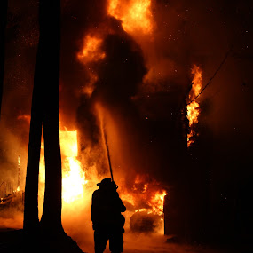 Structure Fire by Dave Dabour - News & Events World Events ( 98 fire, structure, sfd, fire, , night, flames )