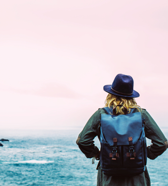 Woman Hat Sea