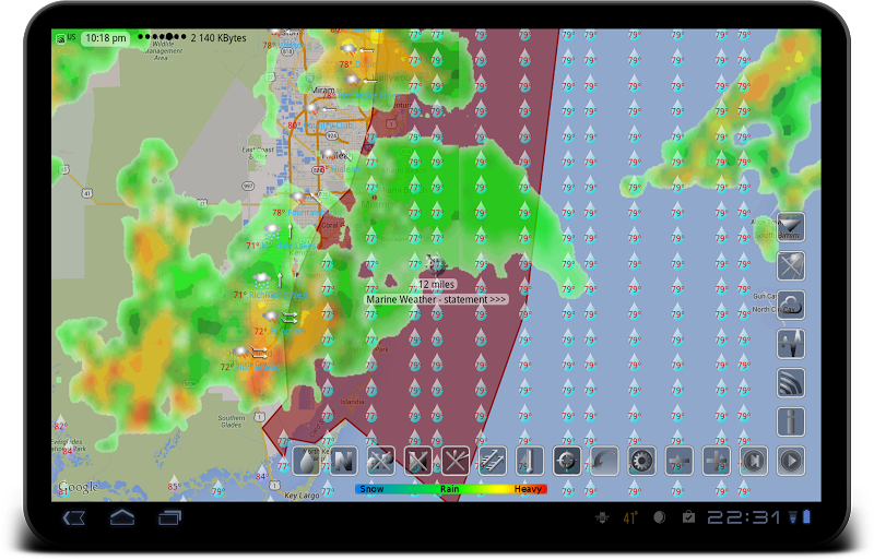 eWeather HD - weather, hurricanes, alerts, radar Screenshot 9