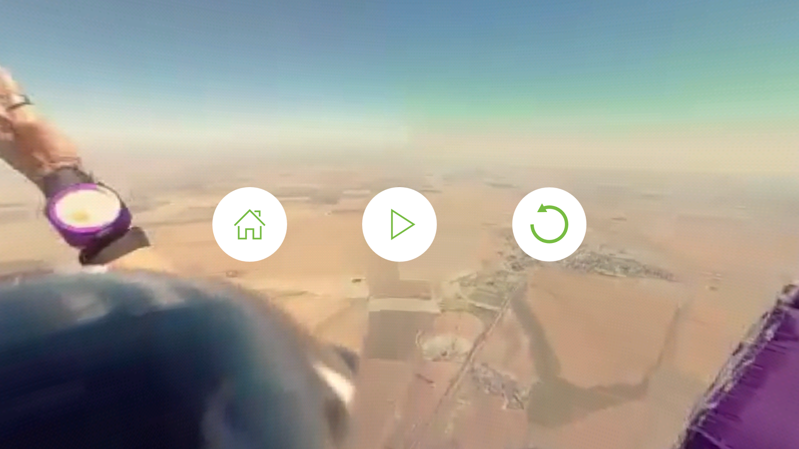 Virtual Reality 360º Skydive- screenshot