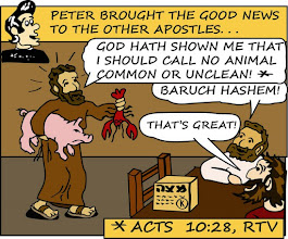 "Photo: Peter brought the good news to the other apostles... ""Baruch Hashem!"" Acts 10:28, RTV"