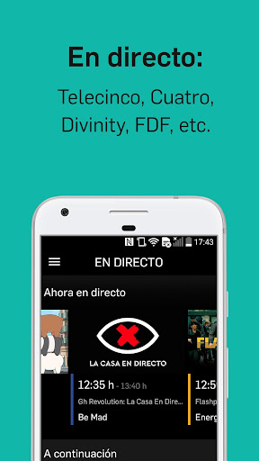 Mitele - Mediaset Spain VOD TV 3.4.2 Apk Android