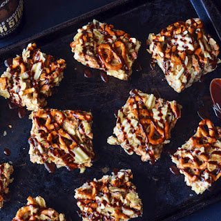 Sweet and Salty Stout Marshmallow Bars With Pretzels, Potato Chips, and Chocolate