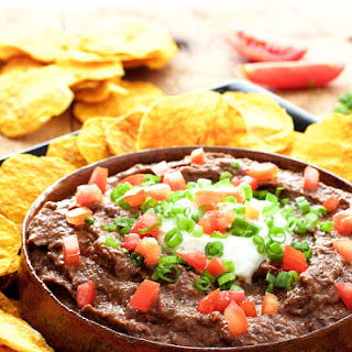 Smokin' Chipotle Black Bean Dip with Oil-Free Butternut Squash Chips Recipe