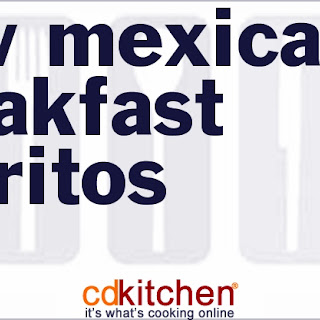 New Mexican Breakfast Burritos.