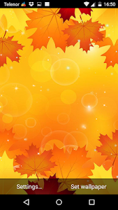 Autumn Leaves Live Wallpaper screenshot 0