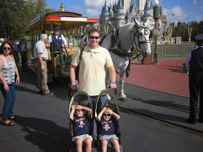 "Photo: Day 2- Magic Kingdom Day 1 - ""We'll let Daddy do all the pushing to get us around the park"" :-)"