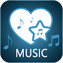 Romantic music ands love songs icon