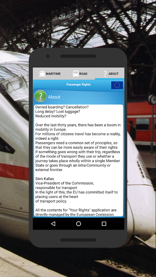 Passenger rights- screenshot