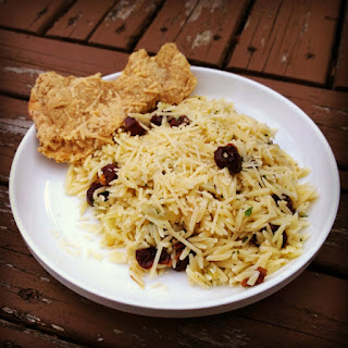 Orzo with Caramelized Onions and Cherries.