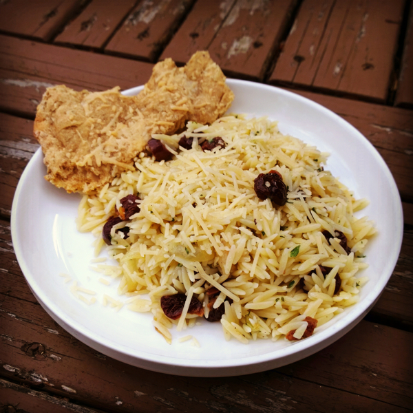 Orzo with Caramelized Onions and Cherries Recipe