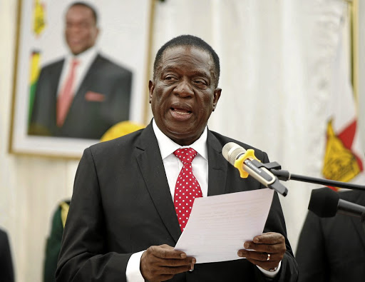 New chapter: Zimbabwean President Emmerson Mnangagwa has made investing in the country more attractive. Picture: REUTERS