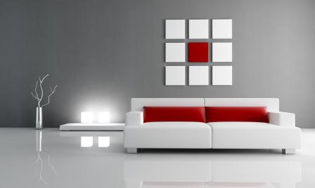 Czerwone dekoracje