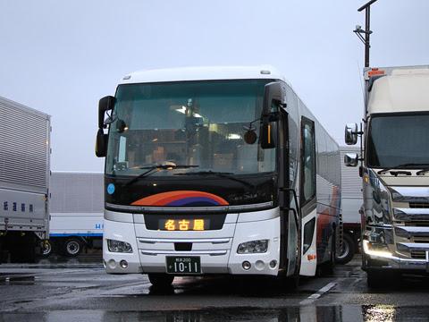 九州産交バス「不知火号」 1011 大山田パーキングエリアにて_01
