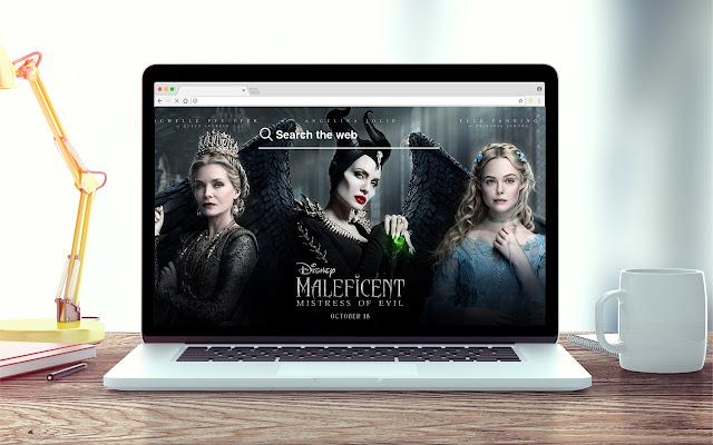 Maleficent Mistress Evil New Tab Game Theme