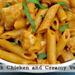 Penne with Chicken and Vodka Sauce.