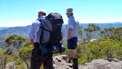 Photo: Ant and Phillip view the Wollondilly Valley