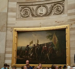 "Photo: Paintings in the rotunda. This is ""Landing of Columbus"" - http://en.wikipedia.org/wiki/United_States_Capitol_rotunda"