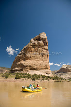 Photo: Whitewater rafting on the Yampa River / Green River, which flows through Dinosaur National Monument in northeastern Utah. The Yampa flows into the Green at Echo Park.