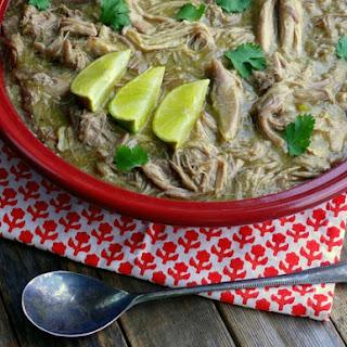 Slow Cooker Pulled Pork Chile Verde.