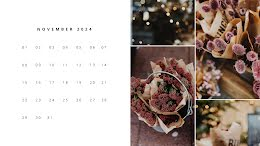 Floral Monthly - Monthly Calendar item