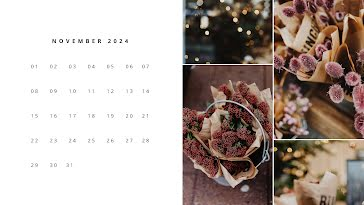 Floral Monthly - Calendar Template